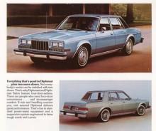 Så här såg Dodge Diplomat ut 1981 och några större ändringar gjordes inte fram till dess modellen lades ned 1989.