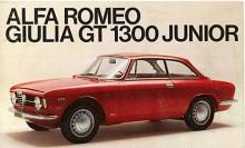 Bilskatten var hög i Italien och bestämdes efter cylindervolym. Det gav upphov till Junior, en Giulia GT med den varviga 1300-motorn. När 1750 GTV kom in på scenen tillkom också en 1600 Junior men då hette inte coupéerna Giulia längre.