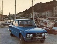 Den sista Giulian var Giulia Nuova Super 1.3 och 1.6 (1974-1978) som med utslätad front och akter förlorat i karaktär. Det är inte ovanligt idag att modellen byggs tillbaka med huv och baklucka från ursprungsmodellen. Fanns också med dieselmotor- oerhört då på en sportmodell men nästan naturligt idag.