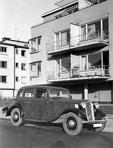 Hanomag Rekord Diesel 1939 fotograferad på Gärdet i Stockholm.