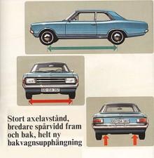 Rekord C som kom 1967 var en helt ny bil med mycket mer påkostad teknik än tidigare. Bättre hjulupphängningar tog död på Opels rykte som gungig på vägen. Formgivningen var ovanligt lyckad, kanske den allra snyggaste Rekorden.
