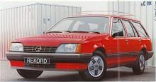 Den sista generationen av Rekord är E2. Den kom 1982 och är inte helt ny utan en face-lift av E, som sedan kom att kallas E1. Nyheterna är sänkt frontparti och höjd akter för att få den kilform som nu är gällande i bilmodet. Nio generationer Rekord blev det alltså. Snabbrepetition: Olympia Rekord, P, PII, A, B, C, D, E och E2. Rekord efterträddes 1986 av Omega.
