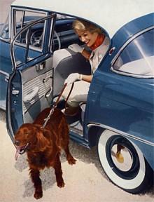 En fyrdörrars version av Rekord P kom 1960. Bakdörren var ganska smal vilket fotomodellerna också fick vara.