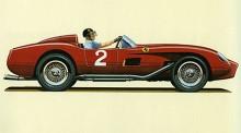 Tävlingsbilen Ferrari Testa Rossa ...