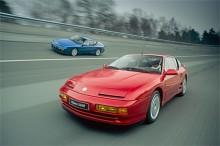 Renault Alpine tillverkades en bra bit in på 1990-talet. Här är ett par A610 från 1991.