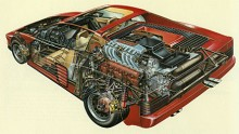 Det tvistas om den 12-cylindriga motorn ska definieras som en boxer eller en v-motor med 180 grader mellan cylinderbankarna.