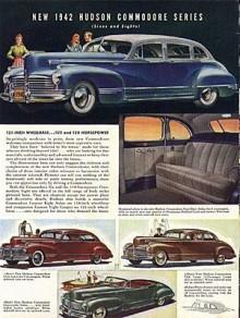 1942 var första årsmodellen för Hudson Commodore.