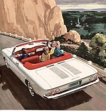GM:s motorer har alltid namn och Corvairs kallades Turbo-Air. Det var kylfläkten som åsyftades men 1963 kom en riktig turboladdad motor med 160 hk. Den gick bara att få i Monza coupé och convertible som då fick tillnamnet Spyder.