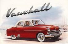 """""""Vauxhall har skapat en verklig lyxvagn!"""" Så stod det i broschyren men Cresta skilde sig inte så mycket från Velox. Tvåfärgslack, mera krom, vita däcksidor och läderklädsel kallades lyx men också rockhängare, klocka och låsbart handsfack! Internbeteckningen var EIPC och årsmodellerna 1955-1957 med facelift varje år! På bilden en -55:a."""