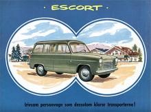 Första gången Ford använde namnet Escort var som en herrgårdsvagnsversion av Anglia.