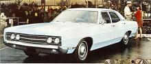 1967 blev Galaxie nedpetad i Ford-hierarkin, den nya toppmodellen hette LTD. Galaxie levde dock vidare, här är en -69:a. Mycket plåt och lite utsmyckning…