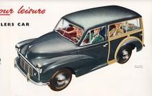 Strålkasterna måste flyttas högre upp för att Minor skulle få säljas i USA. Den lilla herrgårdsvagnen i woody-stil kom 1953 och var den variant som sist slutade tillverkas.