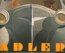 Broschyromslag signerat Bernd Reuters som också var konstnären bakom 1950-talets mest eftersökta Volkswagenbroschyrer. Fronten på Trumpf såg inte så dramatisk ut i verkligheten.
