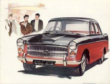 Även BMC:s stora sexor kom i Farinastil. Detta är A99 Westminster som debuterade 1959 som systerbil till den mer påkostade Wolseley 6/99. Herrskapet har varit på teatern. Passande bil för teaterdistriktet ligger i Westminster.