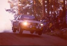 1984 blev Stig Blomqvist världsmästare med Audi Quattro.