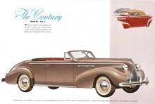 Den större motorn i det mindre chassiet, det var Buicks recept för den första generationen Century 1936-1942. Bilden visar en 39:a - kanske den vackraste USA-bilen det året. Motorn var en rak 8:a på 320 cid och 140 HP.