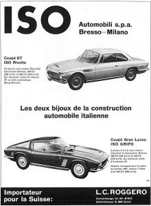 Annons från 1965, där finns även ISO Grifo med.