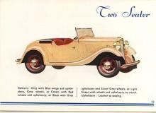Minx fanns 1934 som tvåsitsig roadster som trots utseendet inte ansågs som en sportbil.