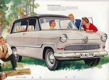 Taunus hängde med tiden och fick grillinspiration från de stiliga Fordarna i väst. Men tjusiga kromkula som fanns på Ford i USA 1949-50 blev i europeisk tappning lite mer flörtkulelik. Karossen fanns till 1959. Här i fräsigt herrgårdsvagnsutförande.