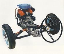 Se så kompakt och elegant konstruerat drivpaketet var på Taunus 12m. De nya idealen övergavs snabbt till förmån för bättre säljande modeller - med bakhjulsdrift. Motorn fick leva vidare i Saab 95/96 V4 istället.
