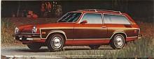 Kammback försvann som namn 1975 men inte kombin som kallades Estate Wagon om den hade falsk trädekor- på bilden en 75:a med för året ny grill.