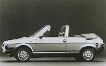 Ritmo i cabrioletversion byggd av Bertone.