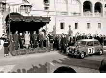 Kunglig mottagning för Hoppkirk och Liddon sedan de vunnit Monte Carlorallyt 1964.
