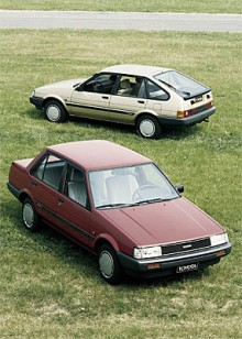 Den femte generationen Corolla som kom 1984 var framhjulsdriven.