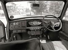 Arbetsmiljön för Hopkirk och Crellin under rallyt i Österrike 1966. Självklart vann man.