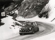 Ännu en triumf; Aaltonen och Liddon vinner Monte Carlorallyt 1967.