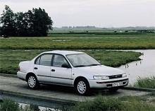 Den sjunde generationen Corolla som kom 1991 var en betydligt större och tyngre bil.