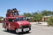 Opel Blitz på uppdrag. Ett känt tyskt barnprogram hade en lek- och lärbuss som ibland hamnade långt från studion.