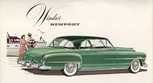 Chrysler Windsor 1951, på bilden, i sitt lyxigaste tvådörrars hardtoputförande fick tillnamnet Newport. 1961 skulle Newport bli ett eget modellnamn på Chryslers instegmodell.