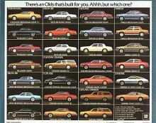 Utbudet ökar ytterligare 1980 och Cutlass är den modell av Oldsmobile med flest varianter. Alla är traditionellt byggda på ram och med bakhjulsdrift.