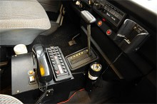Polisradio i Polismuseets VW Caravelle.