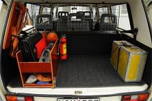 Utrustning till en VW Caravelle 1988 polisbil.