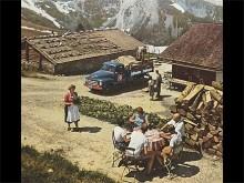 En minut senare fylldes idyllen av ölskum och tyska svordomar. Opel Blitz på törstsläckaruppdrag många meter över havet. Den integrerade frontdesignen kom 1952.