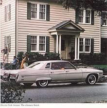 Från 1959 hade Buicks toppmodell hetat Electra (se Namnsdagsbilar 24 januari) och första gången tillägget Park Avenue användes var 1976 på denna topputrustade sedan. Större bilar än 1976 års modeller skulle det inte bli från GM.