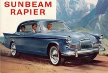 Modet 1958 föreskrev fenor och det fick Rapier serie II men som motvikt samtidigt en traditionell grill. På bilden en Serie IIIA med något nedtonade fenor. Nu hade motorn växt till 1,6 liter, från början var det 1,4, senare 1,5 liter.