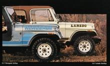Mer innehåll än Renegade hade Laredopaketet som var det som följde med till den nya Wrangler som kom en bit in på 1986.