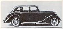Riley, ständigt på jakt efter bra namn för sin för sin stora modellflora, använde namnet Monaco för en saloonkaross som under perioden 1927-1937 förnyades stilmässigt flera gånger. Bilden visar det senaste utförandet från 1937.
