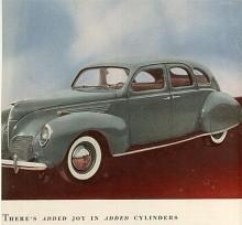 Rundare former är det på 1939 års Lincoln-Zephyr som var basen för den första Lincoln Continental. Grundkonstruktionen hängde med till 1948.
