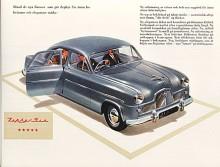 På Londonsalongen 1950 presenterade engelska Ford modellparet Consul och Zephyr-Six, de första bilarna med McPearson-framvagn. Zephyr hade en 2¼-liters sexa på 68 hk och ansågs vara en mycket snabb bil.