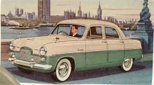 För att konkurrera med Vauxhall Cresta lanserade Ford 1955 Zephyr-Zodiac med tvåfärgslackering och 72 hk. Standard var dimlampor och snobbringar.