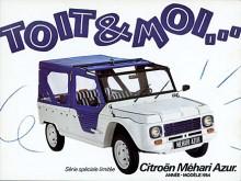 Du och jag och en Méhari! Azur var en specialmodell 1984.