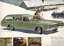 Första årsmodellen för Vista-Cruiser var den stilrena 65:an. Serien hette fortfarande F-85 som från början var en compact men hade nu växt till sig och hörde hemma i segmentet intermediary. Det var en stor bil, längre än Olds 88 från 1955 som på sin tid hörde till de större bilarna.