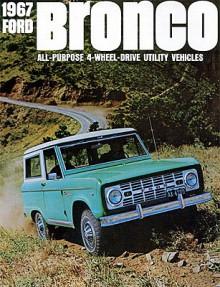Den första generationen Bronco var en enkel fyrhjulsdriven bil. Som exempel på det enkla kan nämnas att vindrutan var helt platt.