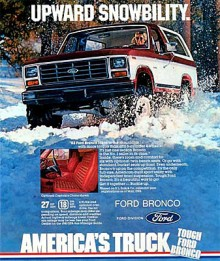 1980 kom den tredje generationen Ford Bronco, även den baserades på pickupmodellen F-100.