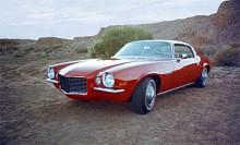 Den andra generationen Camaro som kom 1970 var större och bredare än föregångaren.