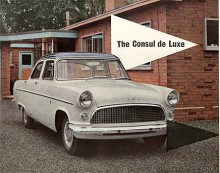 Bigger is better gällde på 50-talet inte bara i Dearborn utan också i Dagenham. Consul Mark II föreställdes 1956 med USA-inspirerade linjer och med motorn förstorad från 1,5 till 1,7 liter. Tillverkades till 1962 och fanns också som cabriolet och som kombi.